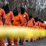 Members of Witness Against Torture demonstrate outside CIA offices in Langley, VA in 2013. Justin Norman / Flickr