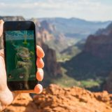 A Pokémon Go gym at Zion Canyon, UT. Tydence Davis / Flickr