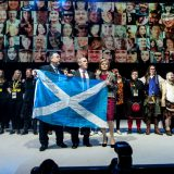 Scottish National Party leaders in Glasgow in 2014. The SNP / Flickr