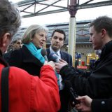 Theresa May being interviewed in 2013. Cheshire East Council / Flickr