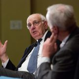 Paul Volcker speaking in April 2012. Harvard Ethics / Flickr