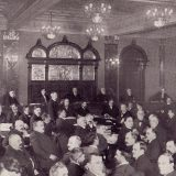 The Anthracite Coal Strike Commission in session in Scranton, PA on November 17, 1902. The Clarence Darrow Collection