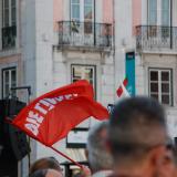 A Die Linke demonstration in 2015.  Jota Pê / Flickr