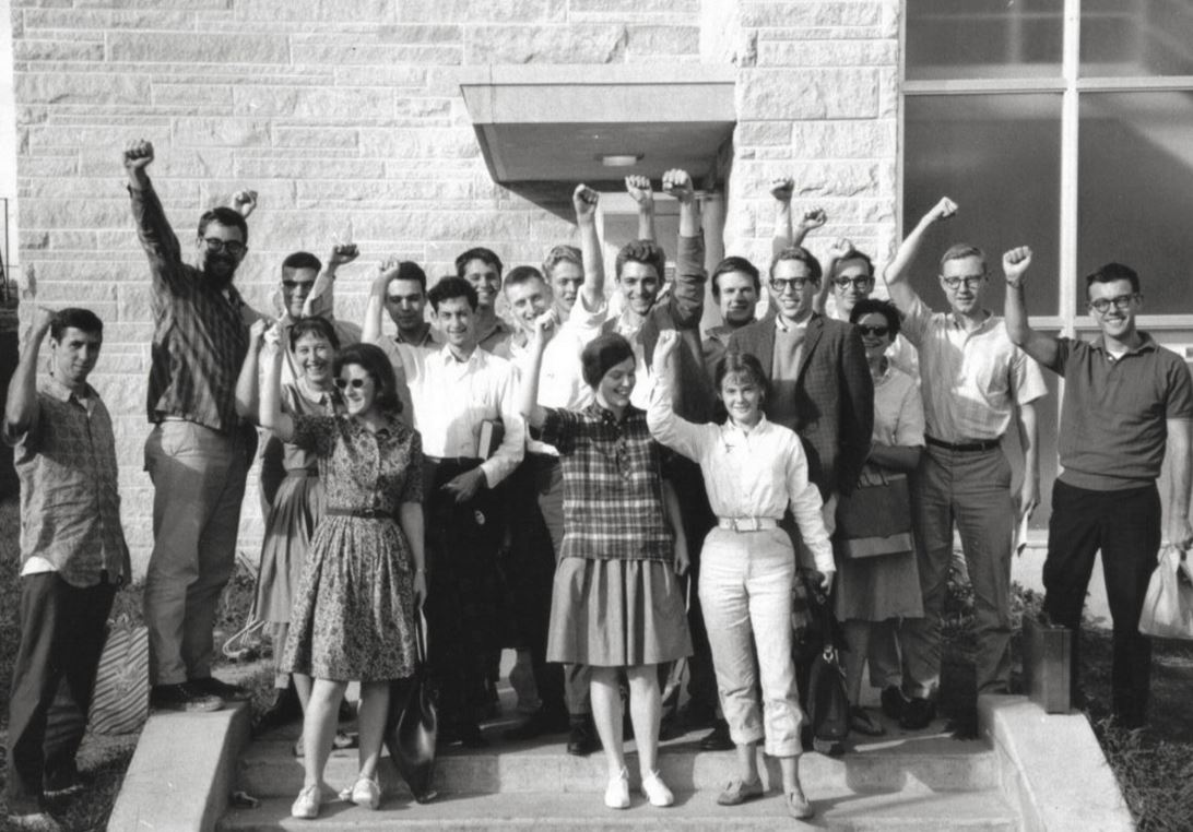 Students for a Democratic Society in Bloomington, Indiana in 1963. C. Clark Kissinger