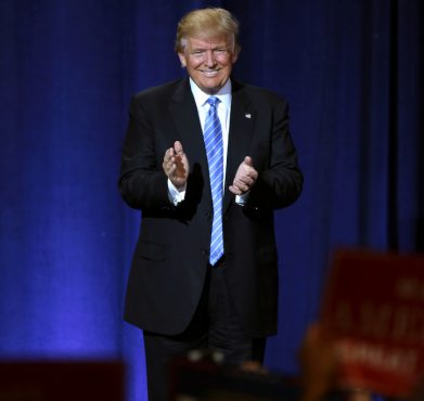 Donald Trump at the Phoenix Convention Center in August. Gage Skidmore / Flickr