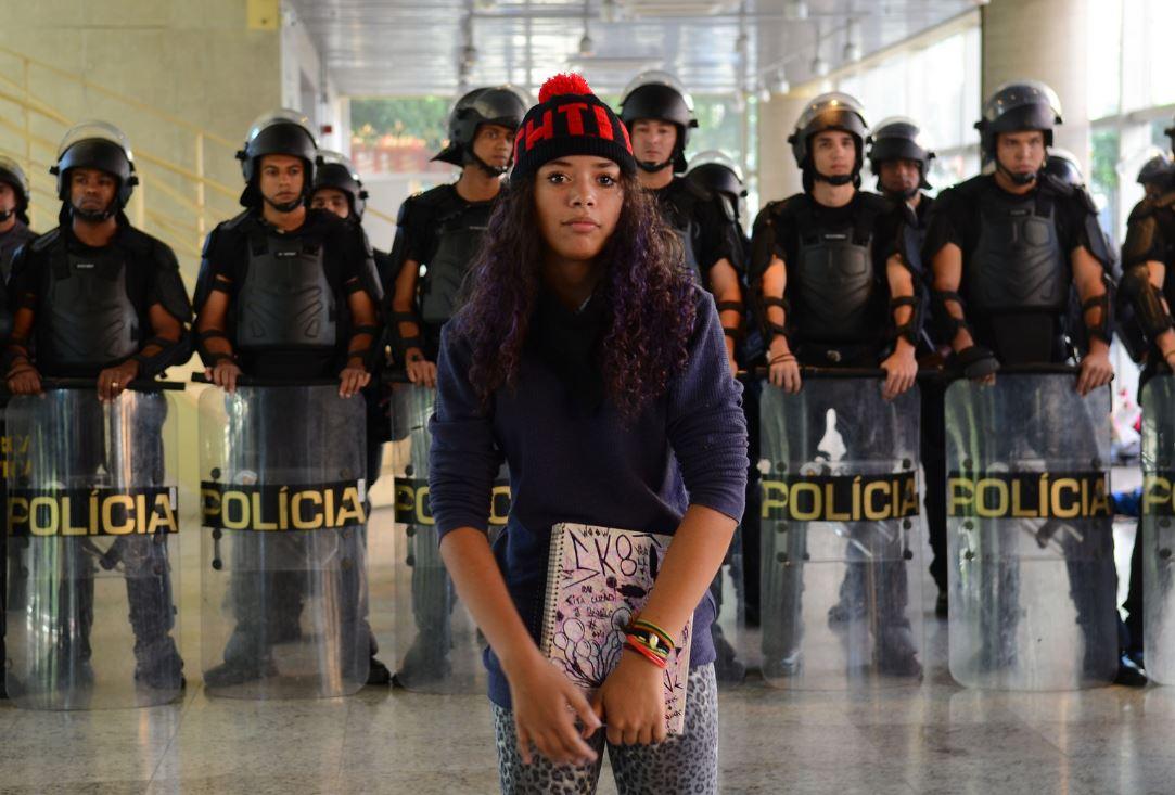 Military police in a school occupied by students in São Paulo. Agência Brasil Fotografias