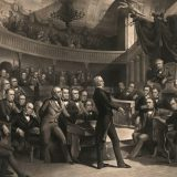 Henry Clay speaking on the Compromise of 1850 in the Senate, ca. 1855. Rothermel,  Whitechurch / Library of Congress