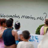 "Graffiti asks ""How many more dead, people?"" in Barrancabermeja, Colombia. Agencia Prensa Rural"