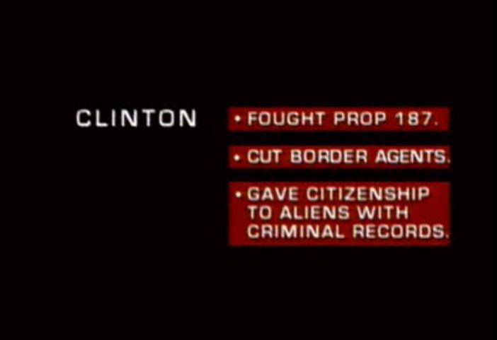 Bob Dole's 1996 attack ad. YouTube