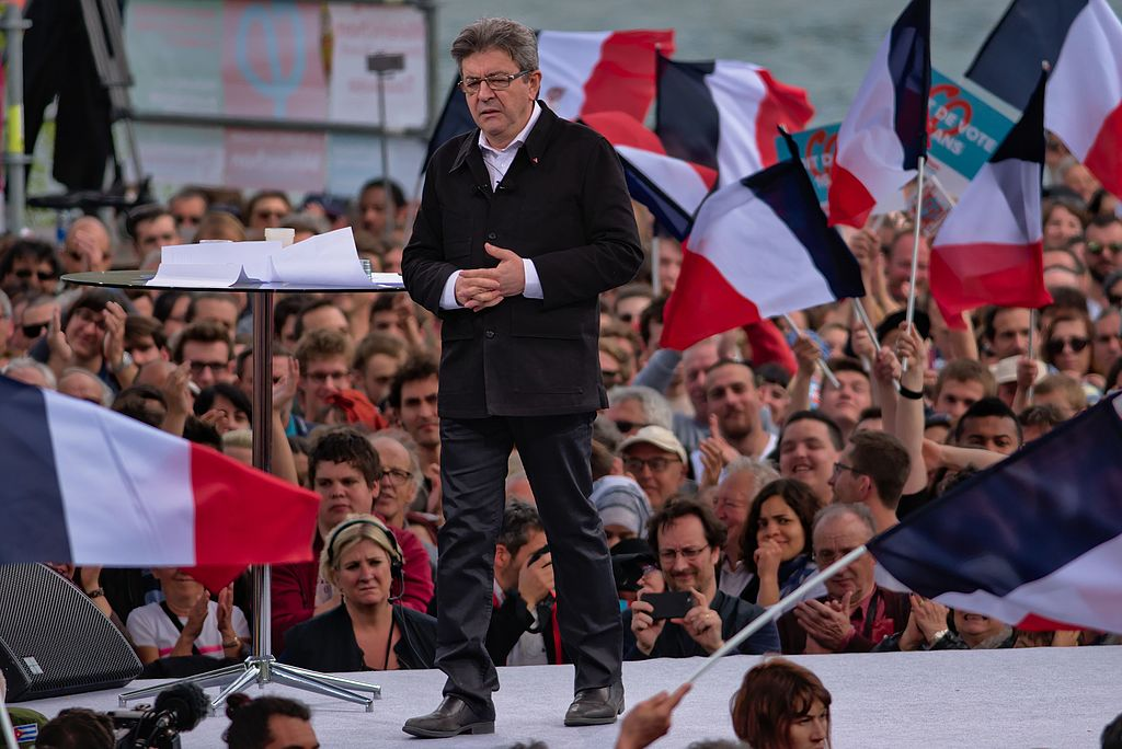 Image result for melenchon and patriotism