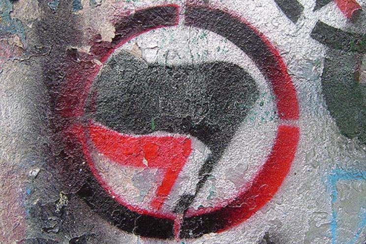 Jewish Anti Fascist Action Antifa SMALL 2x3Ft Flag Banner Antifascist Anarchist Anarchy Antifascism Anti-nazi 003