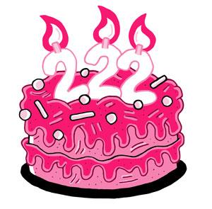 222nd Birthday Cake