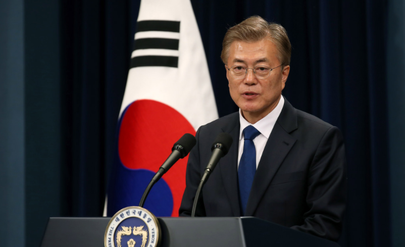 Korea's presidential envoy meets with Trump