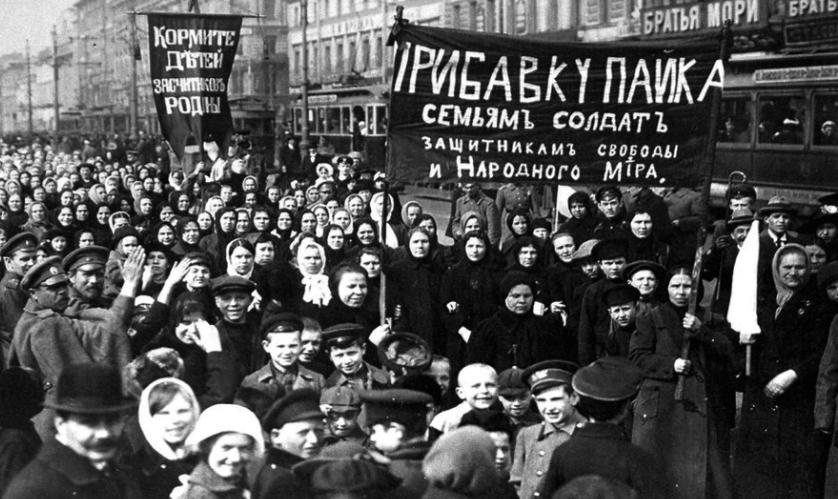 Resultado de imagen para women strike russia 1917