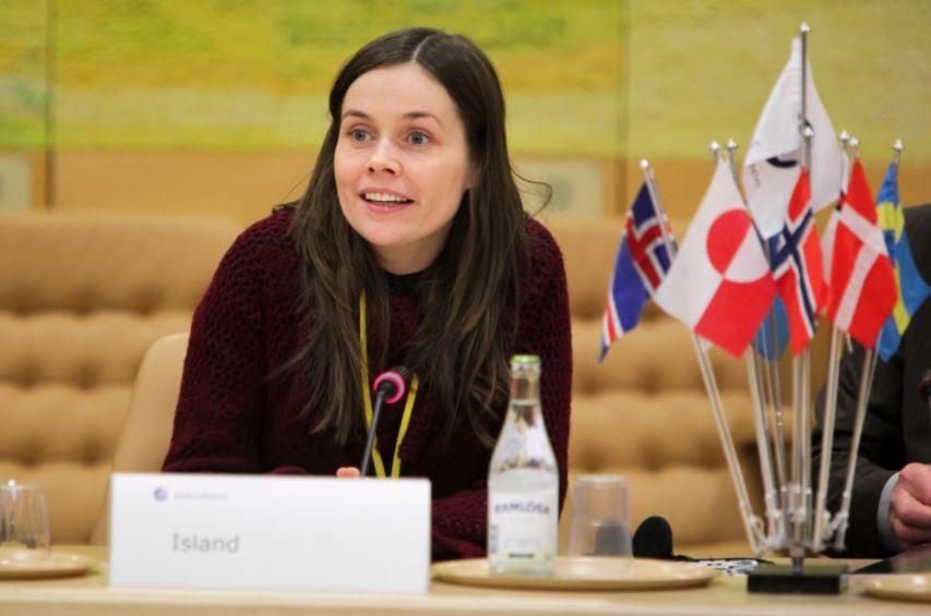 Znalezione obrazy dla zapytania Katrín Jakobsdóttir