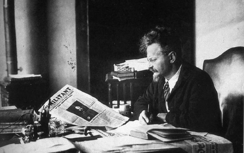 Image result for trotsky reading newspaper