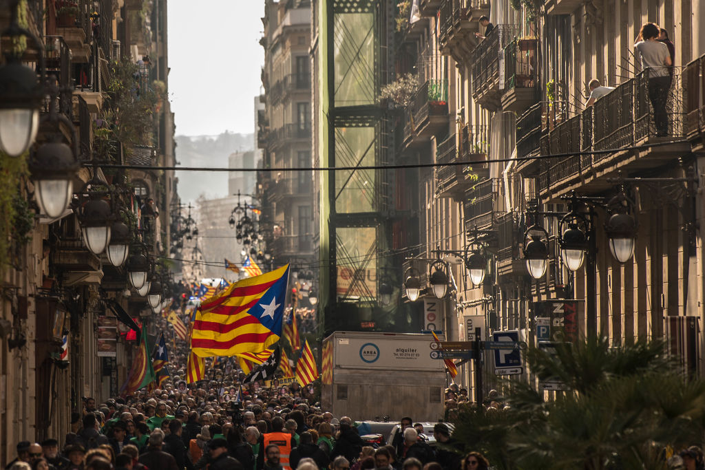 Spain's King Felipe faces protests in Catalonia
