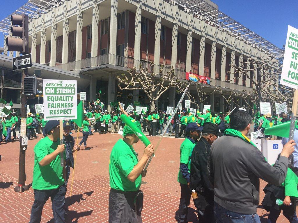 UC Workers on Strike