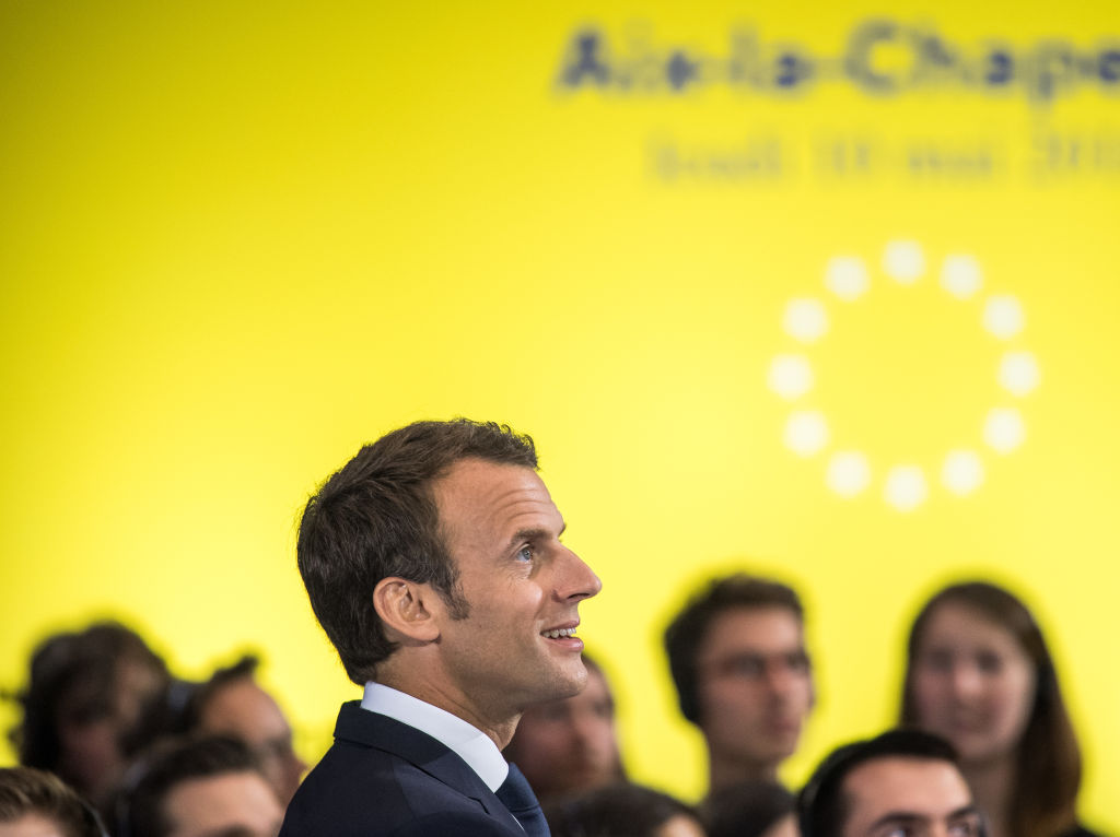 Emmanuel Macron Goes To Church