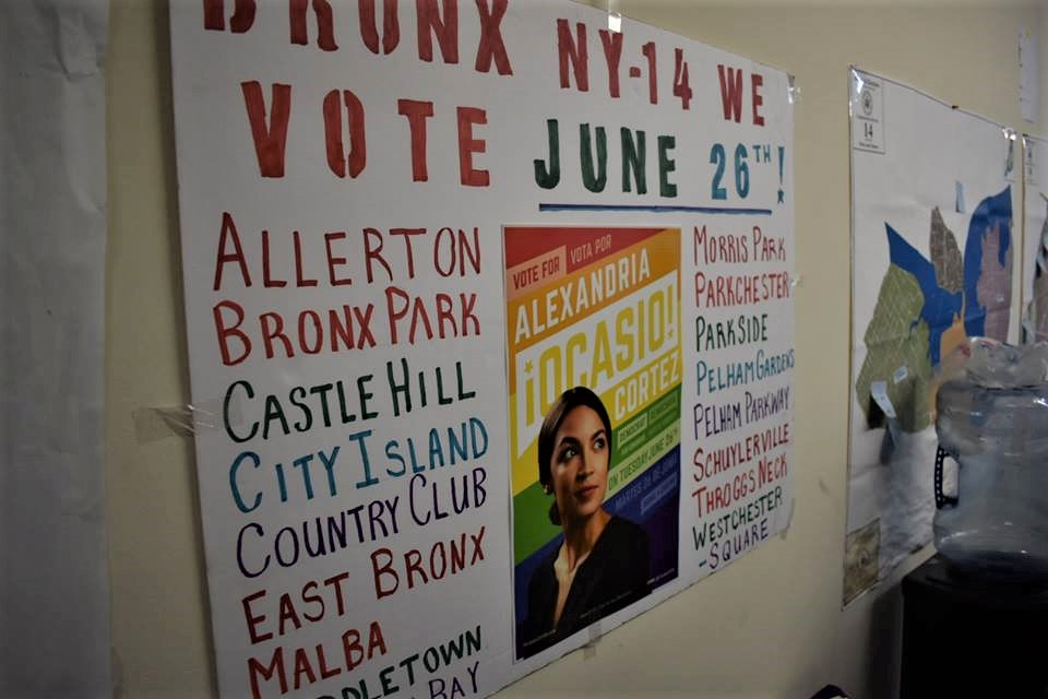 The Alexandria Ocasio Cortez campaign office