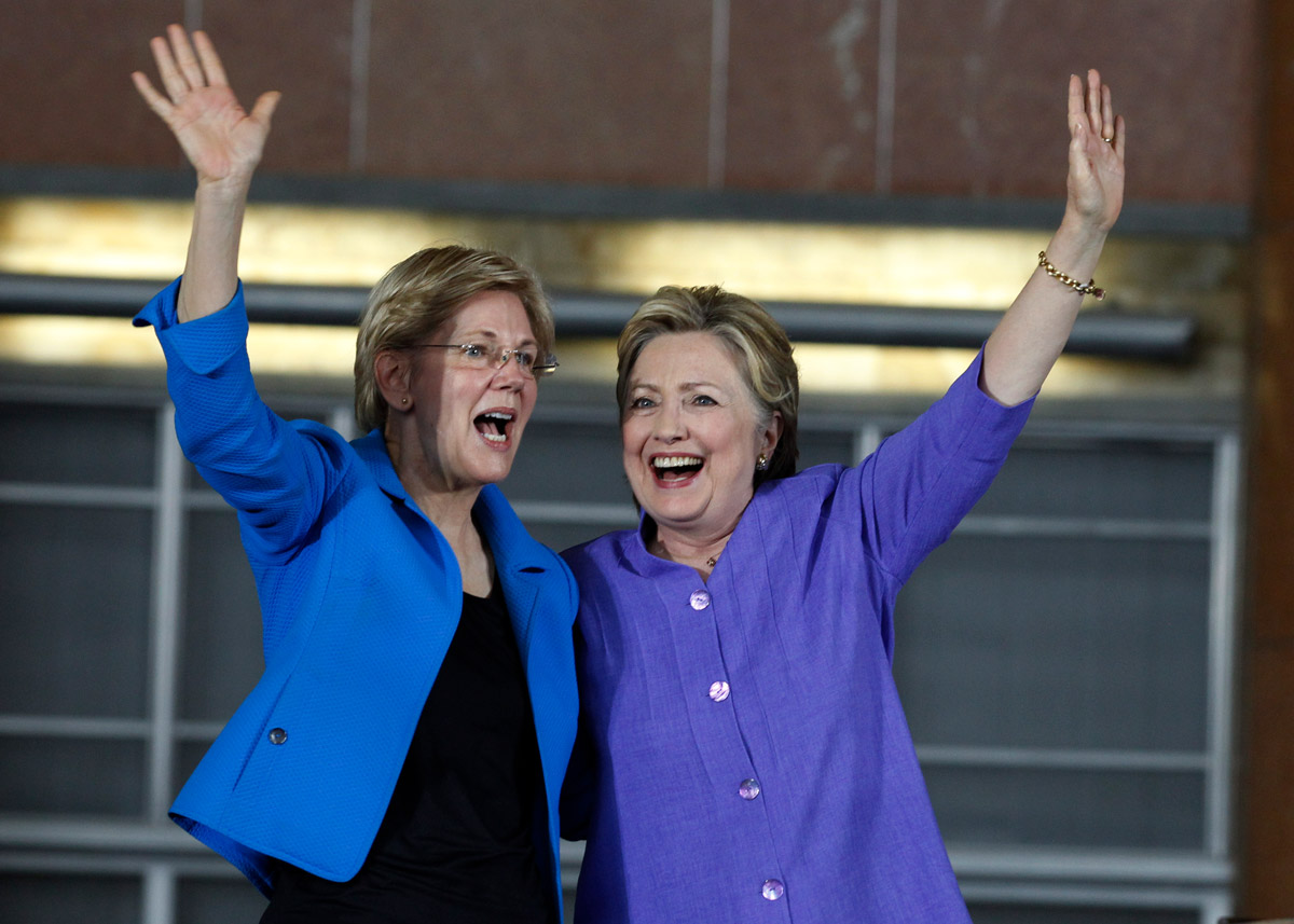 Image result for warren and clinton