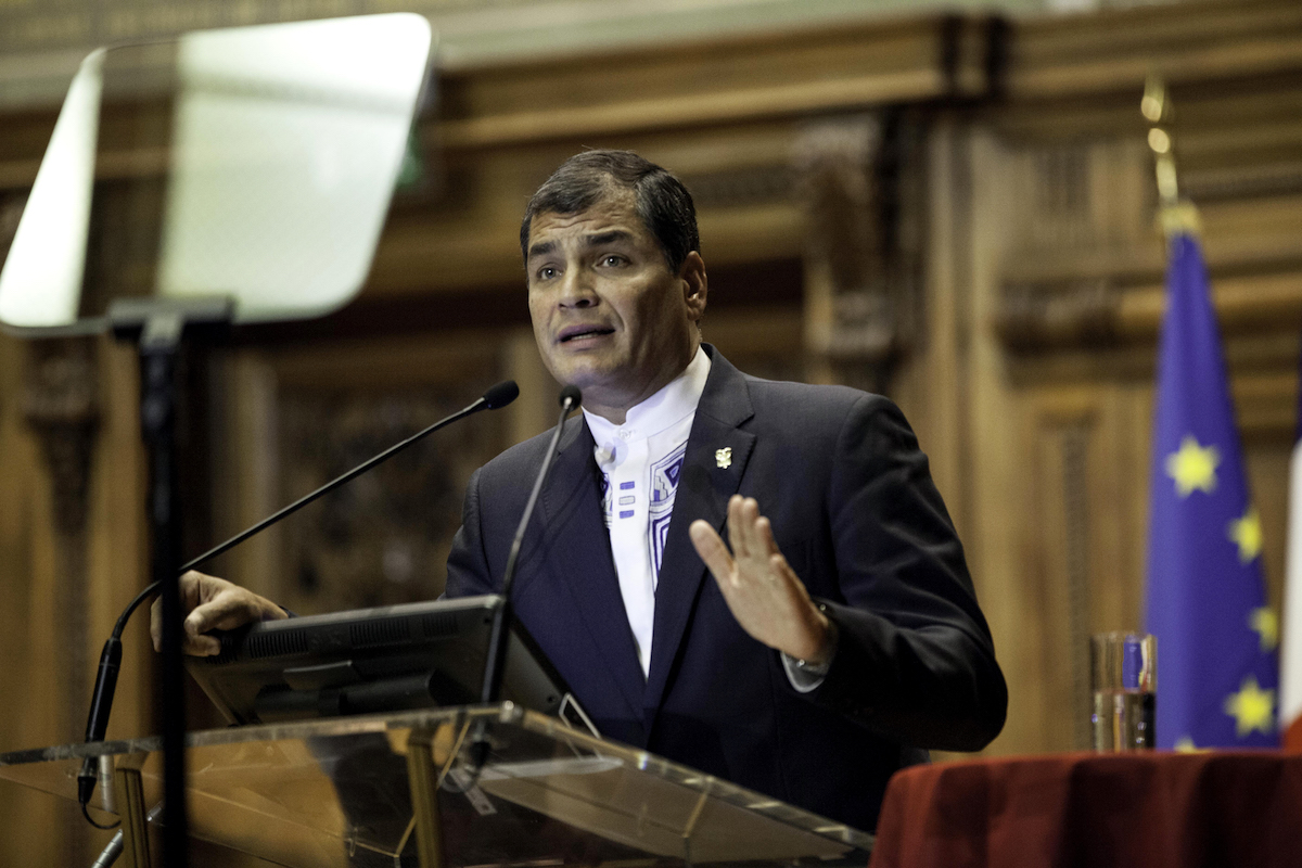 Ecuador's Neoliberal Government Is Trying to Ban Rafael Correa from the 2021 Elections