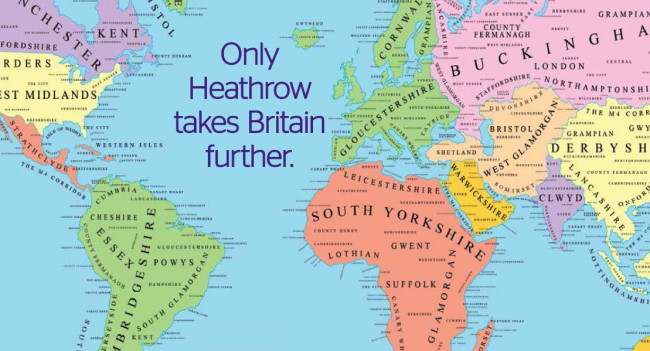 Heathrow airport maps the world and it still belongs to britain publicscrutiny Image collections