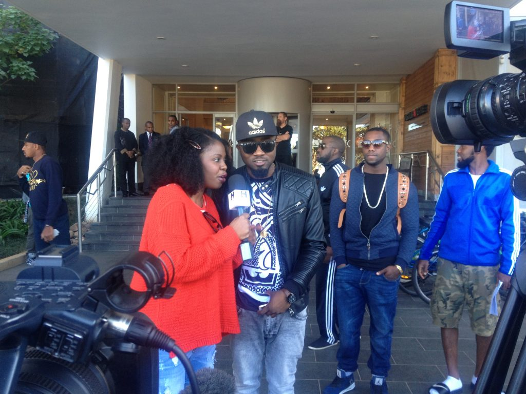 Faith History and her crew interviewing Ice Prince.
