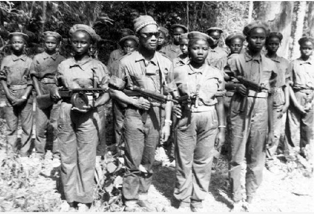 Joana Gomes with Amilcar Cabral and others, Guinea Bissau, February 1964.